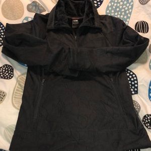 The North face warm 1/4 grey zip up lined size med